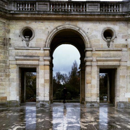 Balade et pluie Bordeaux Jardinpublic