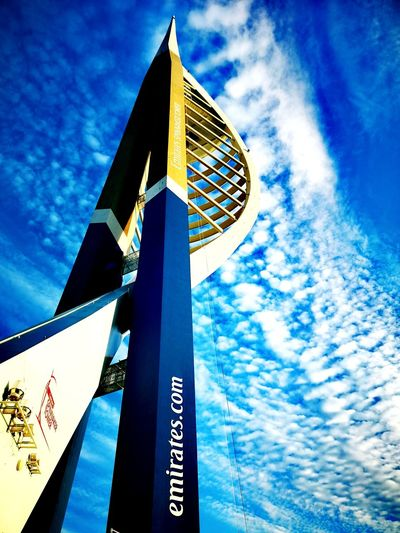 Spinnaker Tower 🗼 History Town Rower Blue Communication Guidance Sky Close-up Architecture