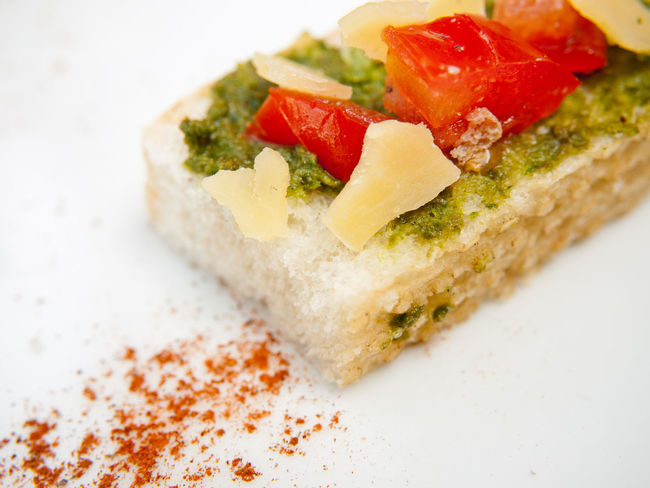 Bread Bruschetta Cheese Close-up Food Food And Drink Freshness Healthy Eating Indoors  No People Parmesan Pesto Sauce Ready-to-eat SLICE Tomato
