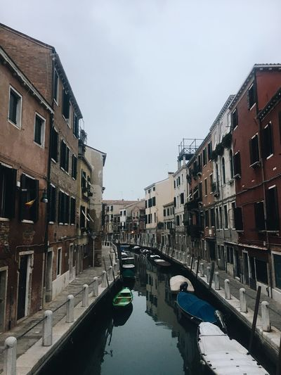 Canal Architecture Water Building Exterior Built Structure Day Sky Nautical Vessel Outdoors No People Gondola - Traditional Boat Venice
