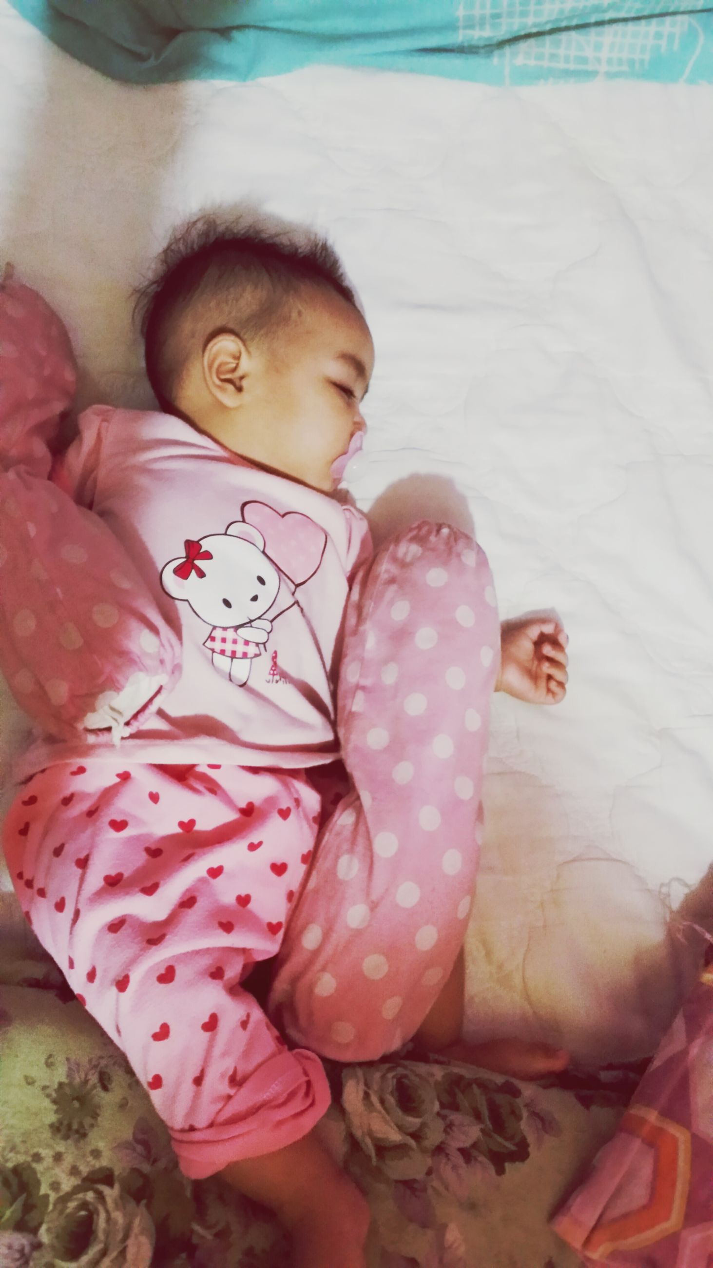 childhood, indoors, lifestyles, person, innocence, baby, elementary age, leisure activity, high angle view, girls, cute, casual clothing, sleeping, relaxation, babyhood, toddler, love, lying down