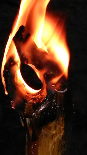 The Ring of Fire Fire Flames Flames & Fire Black Background One Person Indoors  People Day