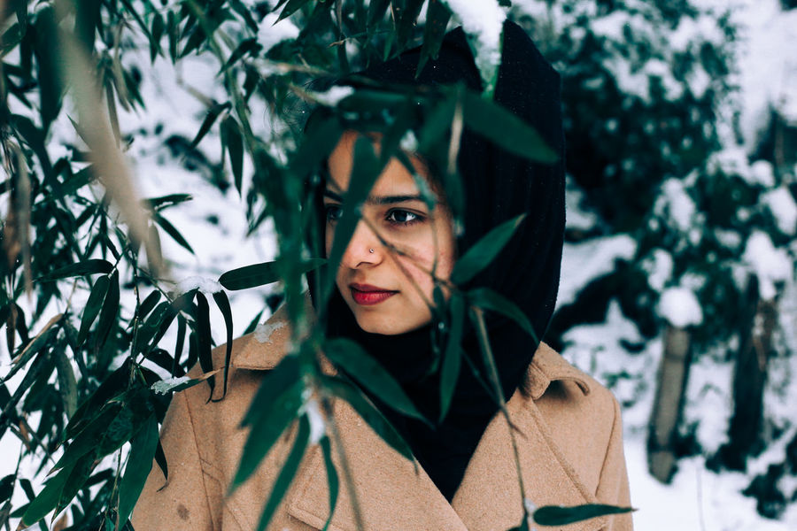 // ❄️ // AMPt_community Canon Close-up Cold EyeEm EyeEm Best Shots EyeEm Nature Lover Females Headshot Muslim One Person Only Women Outdoors Portrait Shootermag Shootermag_japan Smile Snow Snow ❄ Tree Ultimate Japan Weather White Winter Women Women Around The World
