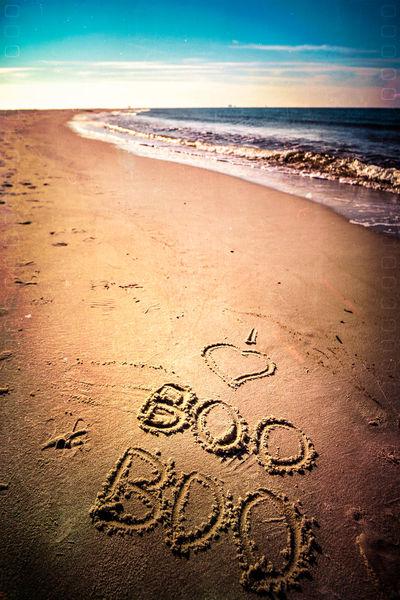 Beach Boo Communication Handwriting  Love Message Sand Sea Shore Text