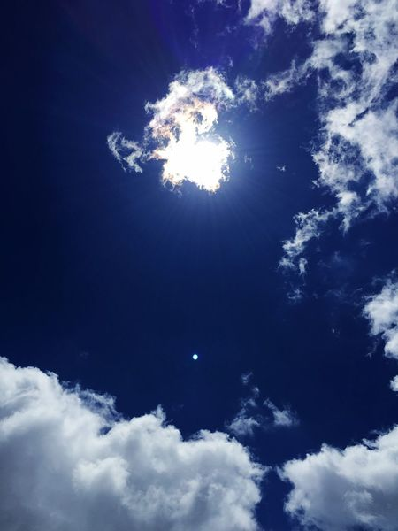 Sun would be boring without some clouds Sun Rays Mountain Sky Summer Sky  Sun Behind Clouds White Clouds And Blue Sky White Clouds Sunny Day Sunny Sun Sky Cloud - Sky Low Angle View Nature Blue Beauty In Nature No People Directly Below