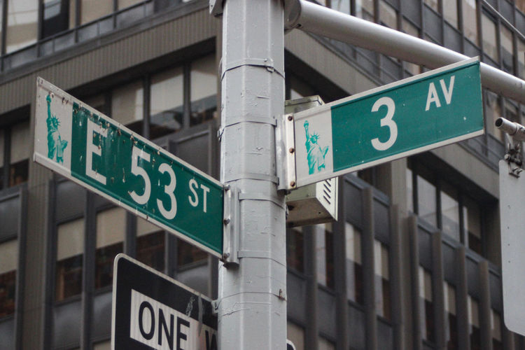 53rd and 3rd, standing on the street Information City Direction Low Angle View No People Number Road Sign Sign Prostitution USA New York NYC Manhattan Street Photography New York City Ramones 53rd And 3rd Punk