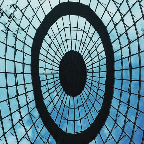 Geometric Shape Shape Circle Pattern Architecture No People EyeEmNewHere Metal Built Structure Design Day Low Angle View Security Fence Protection Sky Directly Below Outdoors Safety Nature Skylight My Best Travel Photo