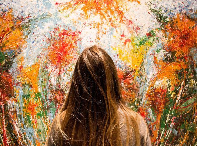 Girl Pretty Girl Art Артмуза яркое картина цвета BYOPaper!