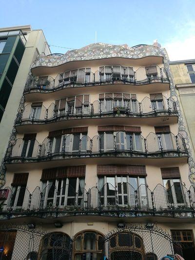 Casa Batllo Gaudì Architecture Work Barcelona, Spain #NotYourCliche Love Letter Window Sky Architecture Building Exterior Built Structure