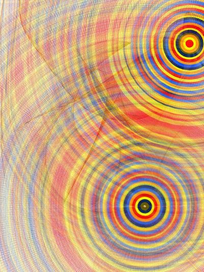 Pattern Full Frame Multi Colored Backgrounds No People Geometric Shape Indoors  Circle Concentric Textured