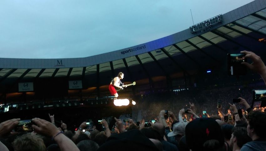 Angus Young, AC/DC.. No Filter Crowd Performance Audience Popular Music Concert Stadium People Event Live Event Outdoors AC/DC Scotland Hampden Fun EyEmNewHere First Eyeem Photo EyeEmNewHere