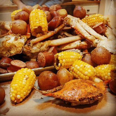 Seafood Boil Corn Crabs Shrimps Sausage Food Foodpic Foodspotting Foodporn Foodphotography