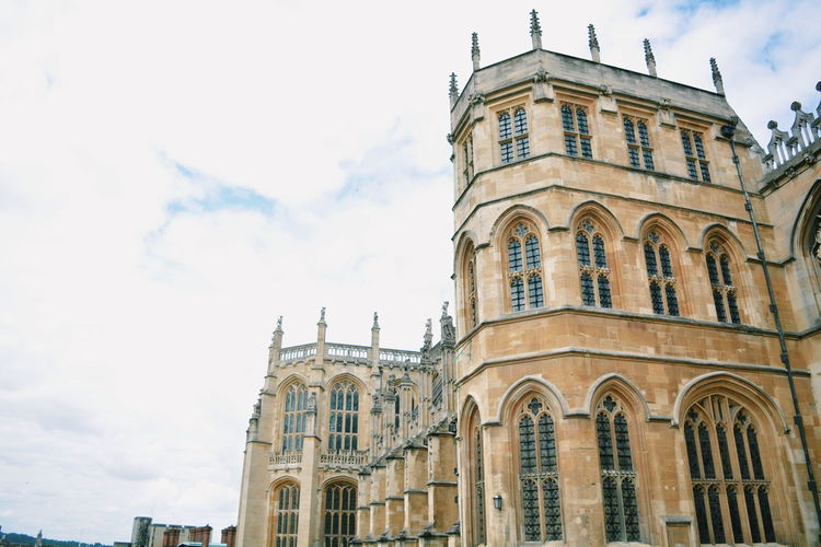 St. George's Chapel, Windsor Architectural Feature Architecture Building Building Exterior Built Structure Capital Cities  City City Life Cloud Cloud - Sky Cloudy Day Façade High Section Low Angle View Modern No People Outdoors Overcast Sky Tall Tall - High Tourism Travel Destinations