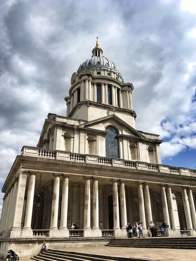 Maritime Greenwich ... the Chapel at Old Royal Naval College now part of Greenwich University Architecture Built Structure History Cloud - Sky EyeEm Best Shots