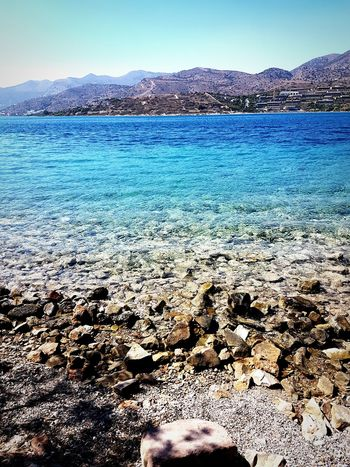 Crete Sea And Sky Seascape Mountain Range Tranquility Beauty In Nature Travel Destinations Non-urban Scene Water Nature Vacations Tourism Spinalonga Island Mountain Water Tranquil Scene Scenics Tranquility Beach Sea Mountain Range Vacations Beauty In Nature Nature Travel Destinations