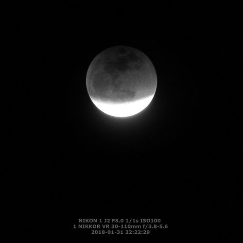 Astrophotography Astronomy Moon Surface Full Moon Planetary Moon IR Infrared Lunar Eclipse Lunar Eclipse / IPhoneography Shanghai, China Infrared Photography Lunar Eclipse 2018 Lunar Eclipse January 31'st 2018 Moon Night Outdoors Sky