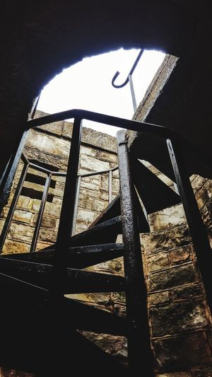 Old Spiral Staircase To The Tower Built Structure Architecture Low Angle View No People Spiral Staircase Stairs & Shadows Old Buildings Upstairs