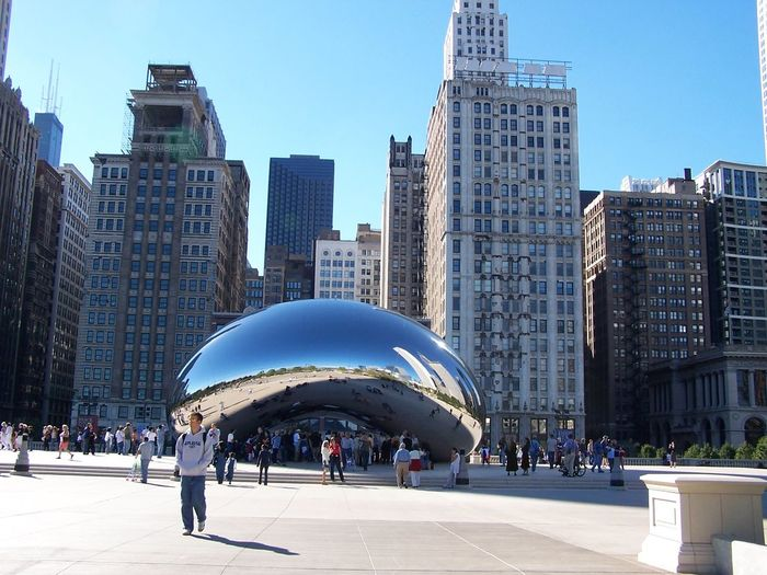 Architecture Art Artistic Building Chicago City City Life Day International Landmark Modern No Edit Office Building Sculpture Skyscraper Tall - High The Bean The Bean Chicago The Bean In Chicago Feel The Journey Tourism Tourist Tourist Attraction  Tourists Urban Millennium Park
