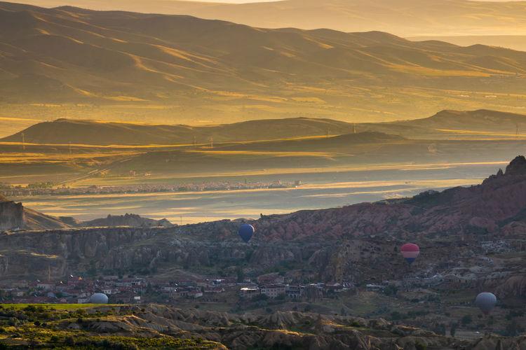 Cappadocia at sunrise from uchisar castle