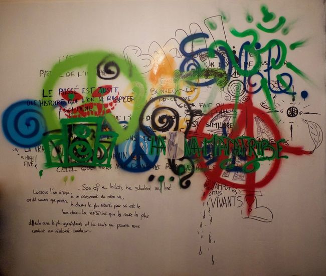 Graffiti Graffiti & Streetart Graffiti Art Graffiti Wall Indoors  Multi Colored Text