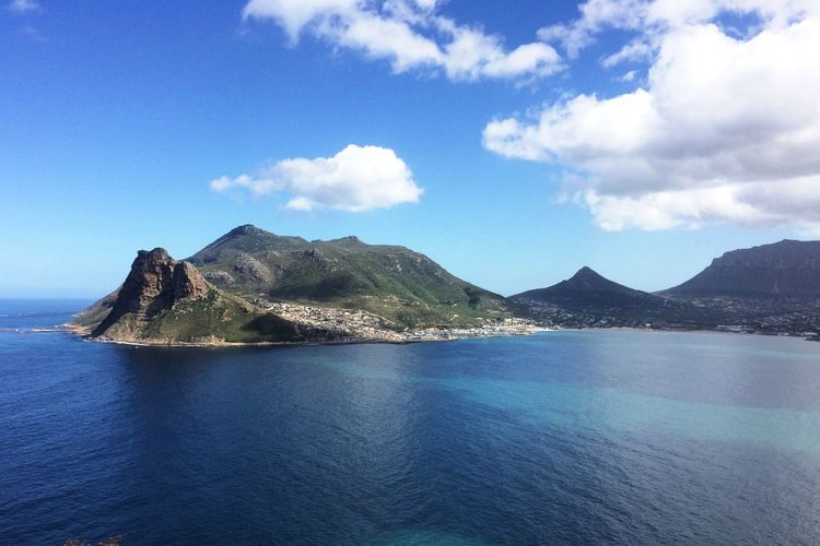 Cape Town Hout Bay Cape Town South Africa Sky Water Mountain Cloud - Sky Scenics - Nature Beauty In Nature Tranquility Tranquil Scene Sea Waterfront No People Nature Day Mountain Range Idyllic Blue Outdoors Non-urban Scene Architecture