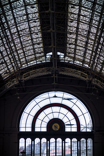 Arch Architecture Budapest, Hungary Built Structure Day Historical Building Hungary Indoors  Low Angle View No People Nyugati Railway Station Railway Station Silhouette Train Station Windows
