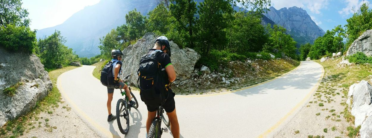 Mountainbiking Mountainbiker Trentino  Italy Vacation Outdoors Sports Hobby Nature Friends Mountains Way Orientation Sport People The Great Outdoors - 2016 EyeEm Awards The Street Photographer - 2016 EyeEm Awards The Following Feel The Journey On The Way People Together People Together By August 3 2016 Desicions Athleisure Two Is Better Than One