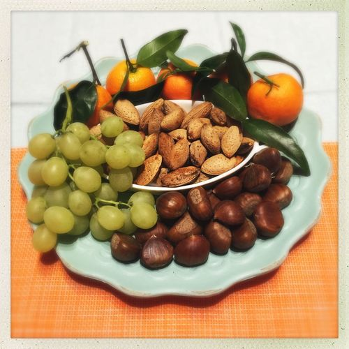 Winter Is Coming Winter Is Back Eat More Fruit Chestnuts Almonds Clementines Grapes Eat Healthy Fruits Organic Fruits