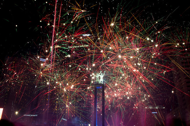 Selamat Tahun Baru 2017 Happy New Year 2017 Celebration Exploding Fireworks In The Sky Firework