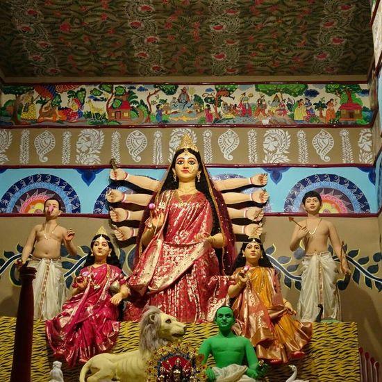 Religion Art And Craft Indoors  Male Likeness Human Representation Statue Spirituality No People Day Close-up Sculpture Place Of Worship Statue Spirituality DurgaPujaDiaries KolkataStreets Kolkata