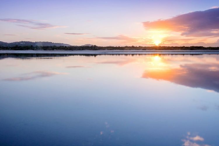 Eastern Sunrise. Sunset Reflection Water Sky Blue Sunlight Outdoors Lake Landscape Nature Beauty No People Beauty In Nature Vacations Day First Eyeem Photo