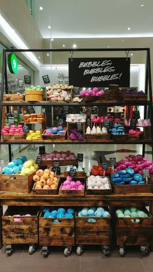 Color Bombs! I love how they arranged these soaps, it's truly eye-catching! Pedrographybh Soaps Freshness Display Colours Retail  Shop For Sale TakeoverContrast