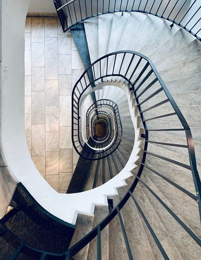 ShotOnIphone The Week on EyeEm Steps And Staircases Spiral Spiral Staircase Staircase Railing Architecture Built Structure Pattern No People Geometric Shape Day Design High Angle View
