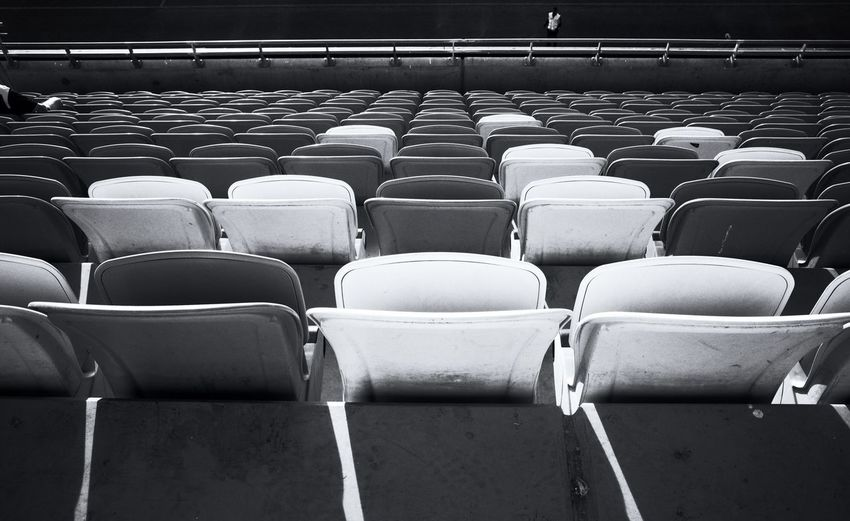 EyeEm Selects In A Row Seat Side By Side Large Group Of Objects Arrangement Repetition Empty Order Absence Chair Arts Culture And Entertainment Stadium Day Full Frame