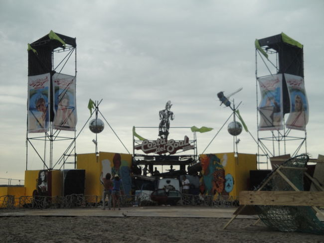 Stage Built Structure Cloud - Sky Day Festival Human Representation Outdoors Real People Sky Statue