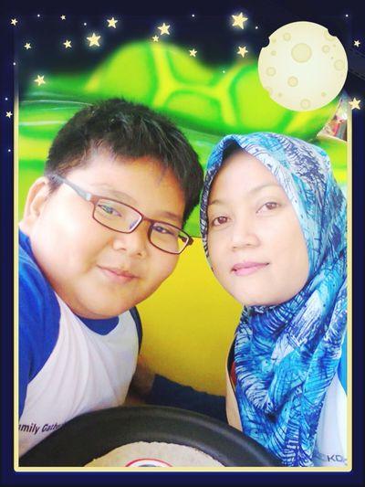 My wife n my son
