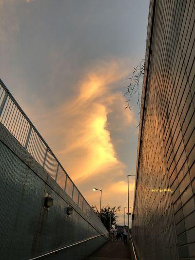 Bridge against sky during sunset