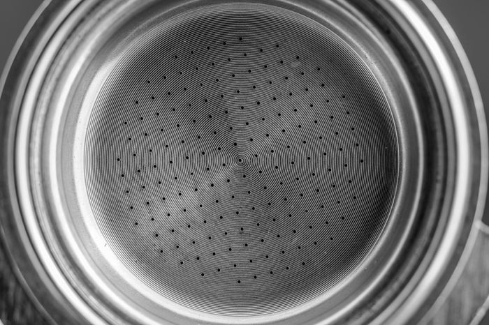 Cafféterapia https://www.youtube.com/watch?v=Mxj2qbVqiM8 Black And White Blackandwhite Close-up Coffee Coffee Break Coffee Maker Coffee Time Dotted Hole Iron Light And Shadow Macro Macro Photography Metal Metal Grate Metallic Minimal Minimalism Minimalist No People Riflection SEL90M28G Silver  Sony A6300 Spotted