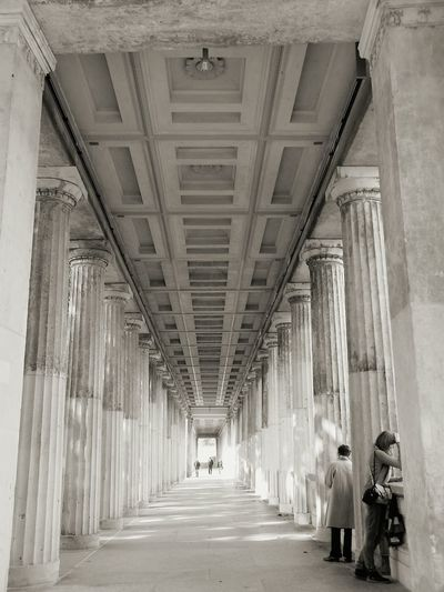 Architecture Built Structure Architectural Column History Fresh On Eyeem  Eyeem Photography Black And White Black And White Photography EyeEm Best Shots - Black + White Colonnade Building Exterior Museumsinsel Berlin Berlin EyeEm Best Shots - Architecture EyeEm Best Shots Eyeemphotography EyeEm Gallery Eye4photography  Hello World