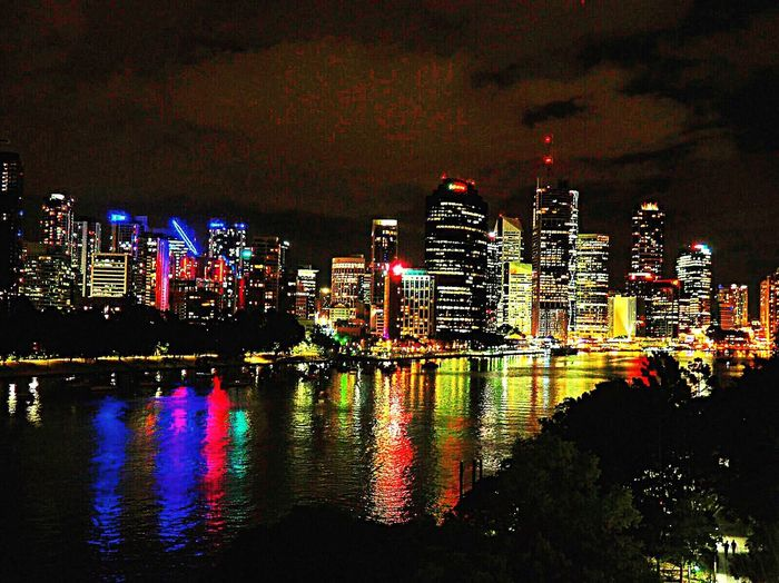 Brisbane city by night, all the way from Kangeroo point Australia Australian Landscape Brisbane Brisbane City Reflection Illuminated Architecture Night City Building Exterior Skyscraper Modern Sky Cityscape Travel Destinations Urban Skyline Waterfront Outdoors Built Structure Futuristic No People Water Travel Traveling Wanderlust