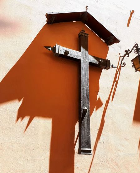 Day of rest Shadow Sunlight Cross Religion Architecture Close-up Built Structure Building Exterior Jesus Christ Crucifix Cross Shape Religious Symbol Religious Equipment