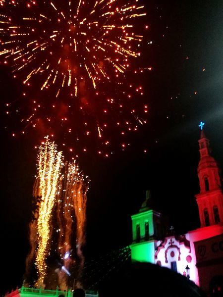 Viva Mexico Night Illuminated Firework Display Celebration Firework - Man Made Object No People