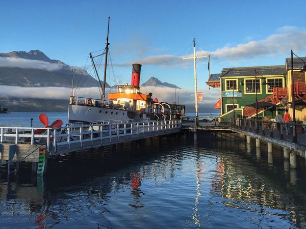 Early Morning Queenstown Nz Queenstown Newzealand Queenstown Steam Ship Steam Boat Blue Sky Blue Lake TSS Earnslaw Earnslaw TSSEarnslaw