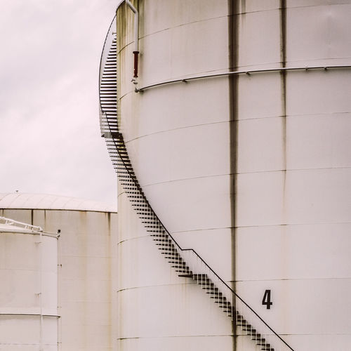 Stairs at oil tank