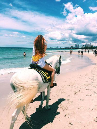 Beach Lifestyles Vacations Sand Sea Sky Beauty In Nature Huahin