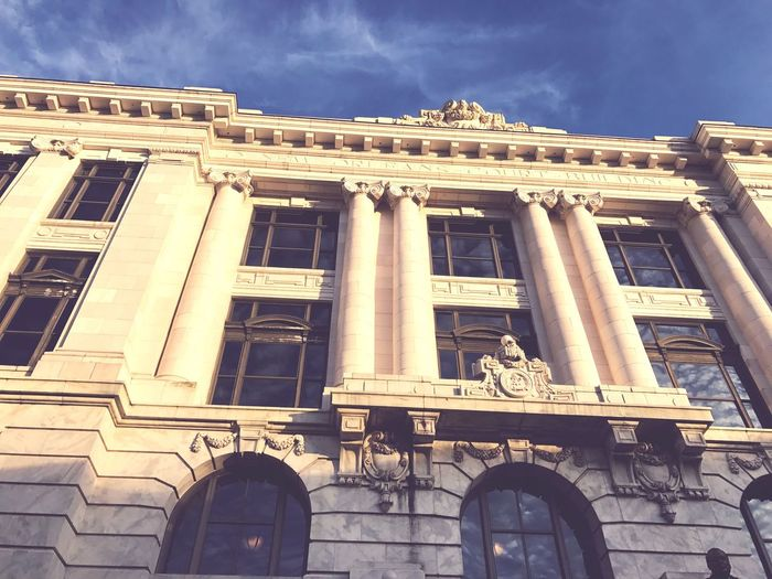 New Orleans Building Exterior Architecture Low Angle View Built Structure Sky Outdoors Architectural Column No People Day City Pediment Architectural Style