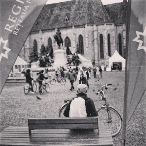 the meeting / Agfa Apex Film . 35mm Analog Grain Pentax P30t Monochrome Monotone Streetphotography Streetphotography_bw Streetphotography_bnw Viataincluj Livingcluj Love_bw Raim Bike Unirii . Cluj Ig_cluj Bnw_romania Bn Bnw Cj05bnw