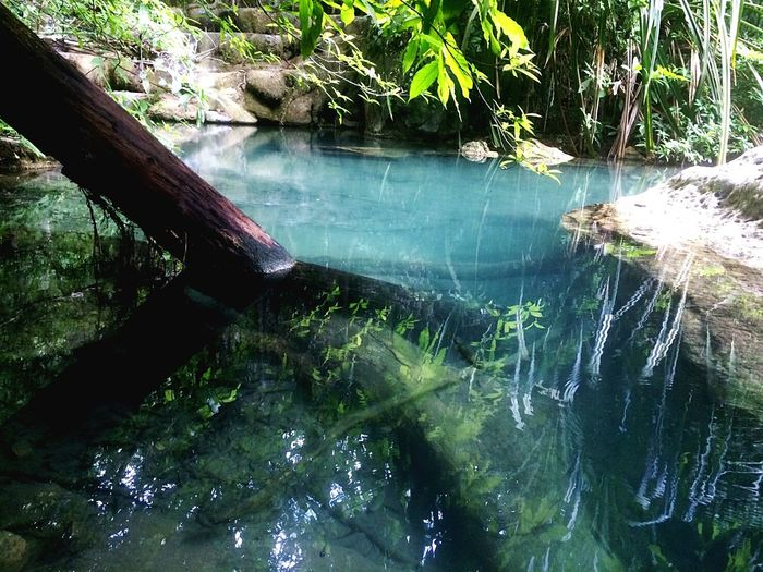 กาญนะจ๊ะบุรี Water Tree No People Nature Outdoors Day Blue Lake Clearwater Jungle Waterfall Miles Away