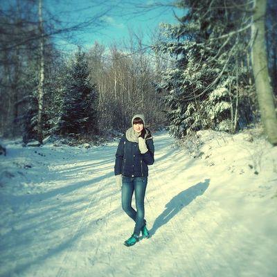 Nasza Piekna Polska Zima Gory Polishgirl Winter Beautiful Poland Sunday Niedziela With My Boyfriend Mountains Landscape Forest Scenery Trees ślęza Sunny Snowy Cold Like4like L4l f4f