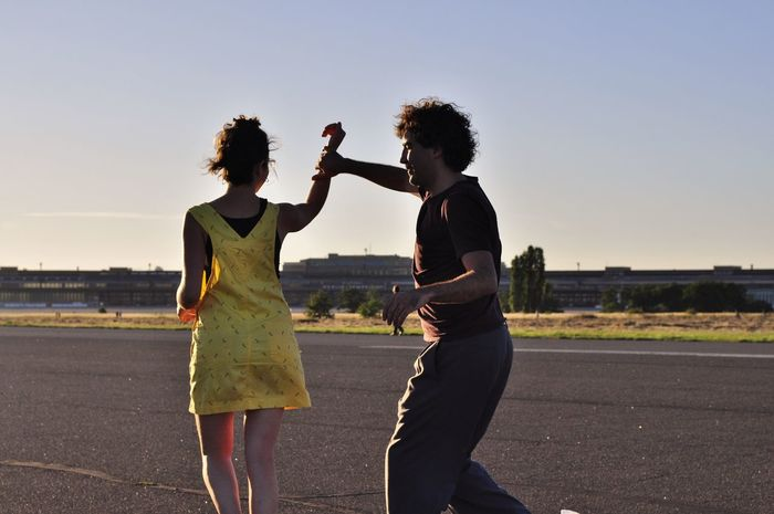 Balboa Berlin Berlin Photography Clear Sky Dancing Dancing Around The World Friendship Happiness Happy Leisure Activity Lindy Hop Outdoor Dancing Park Sunset Swing Dance Swing Dancers Tempelhofer Feld Togetherness